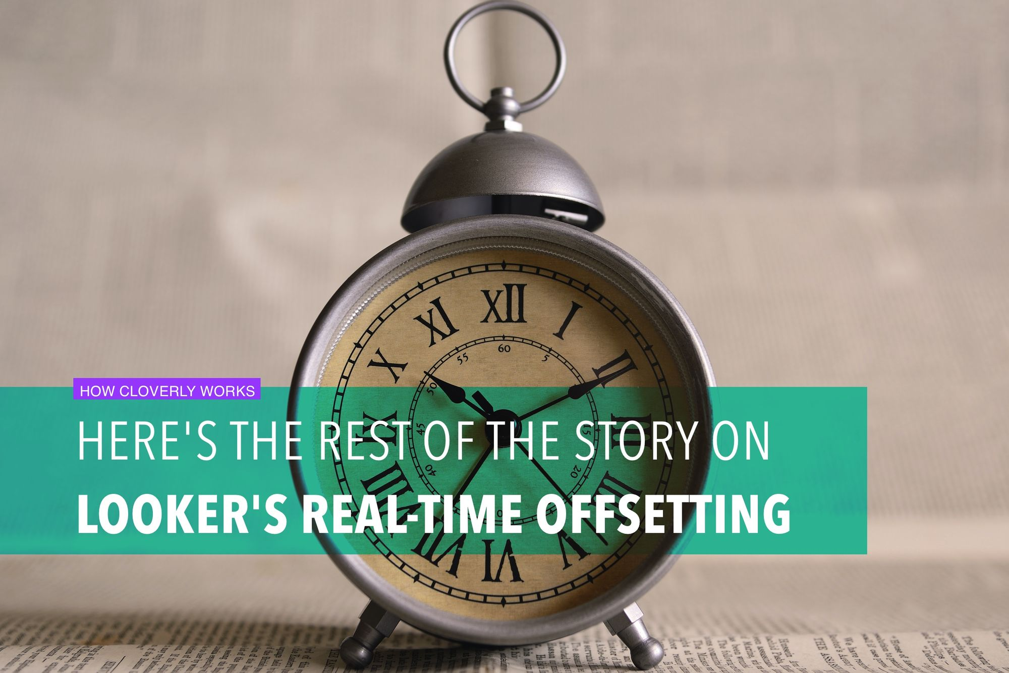 Here's the rest of the story on Looker's real-time offsetting