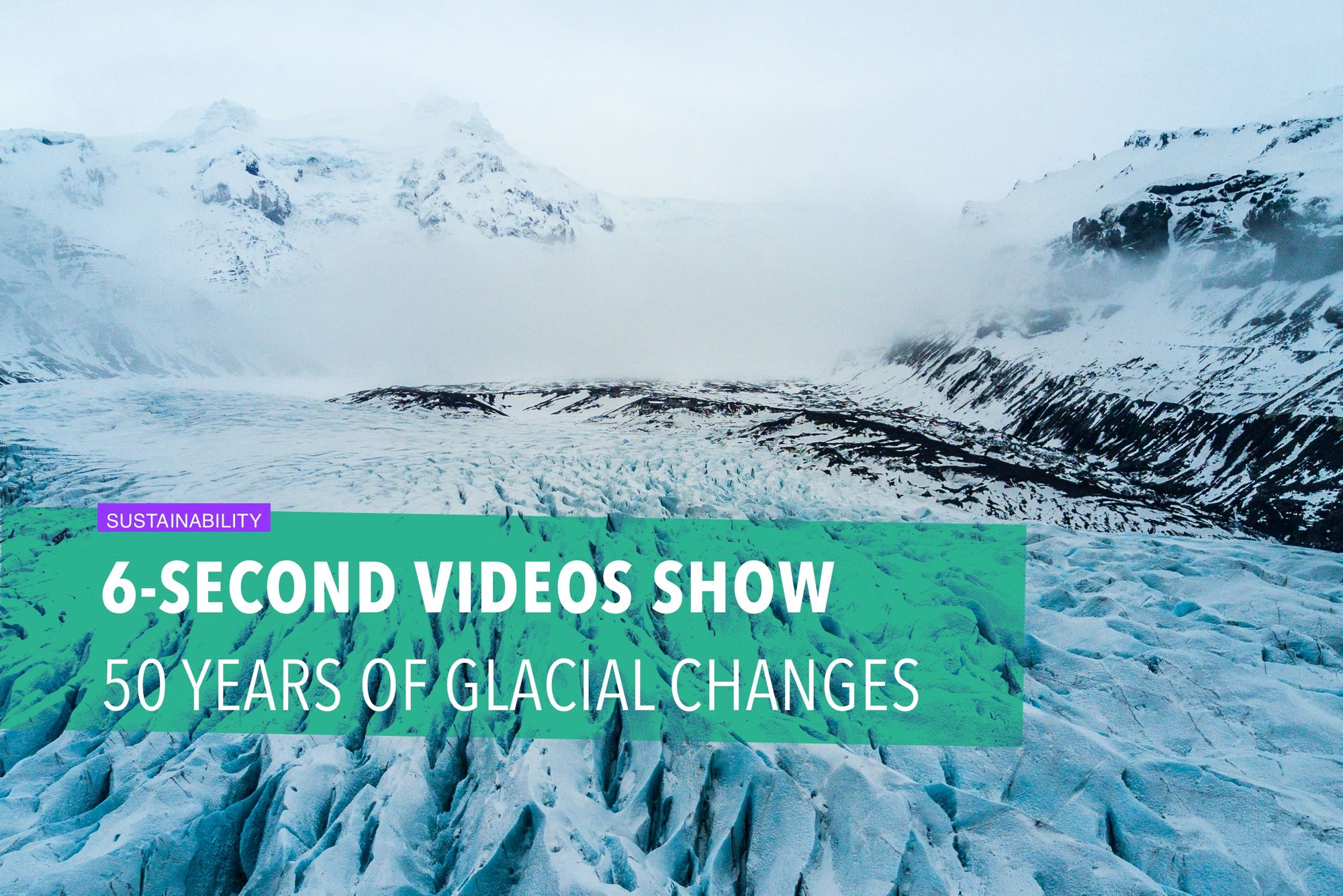 6-second videos show 50 years of glacial changes