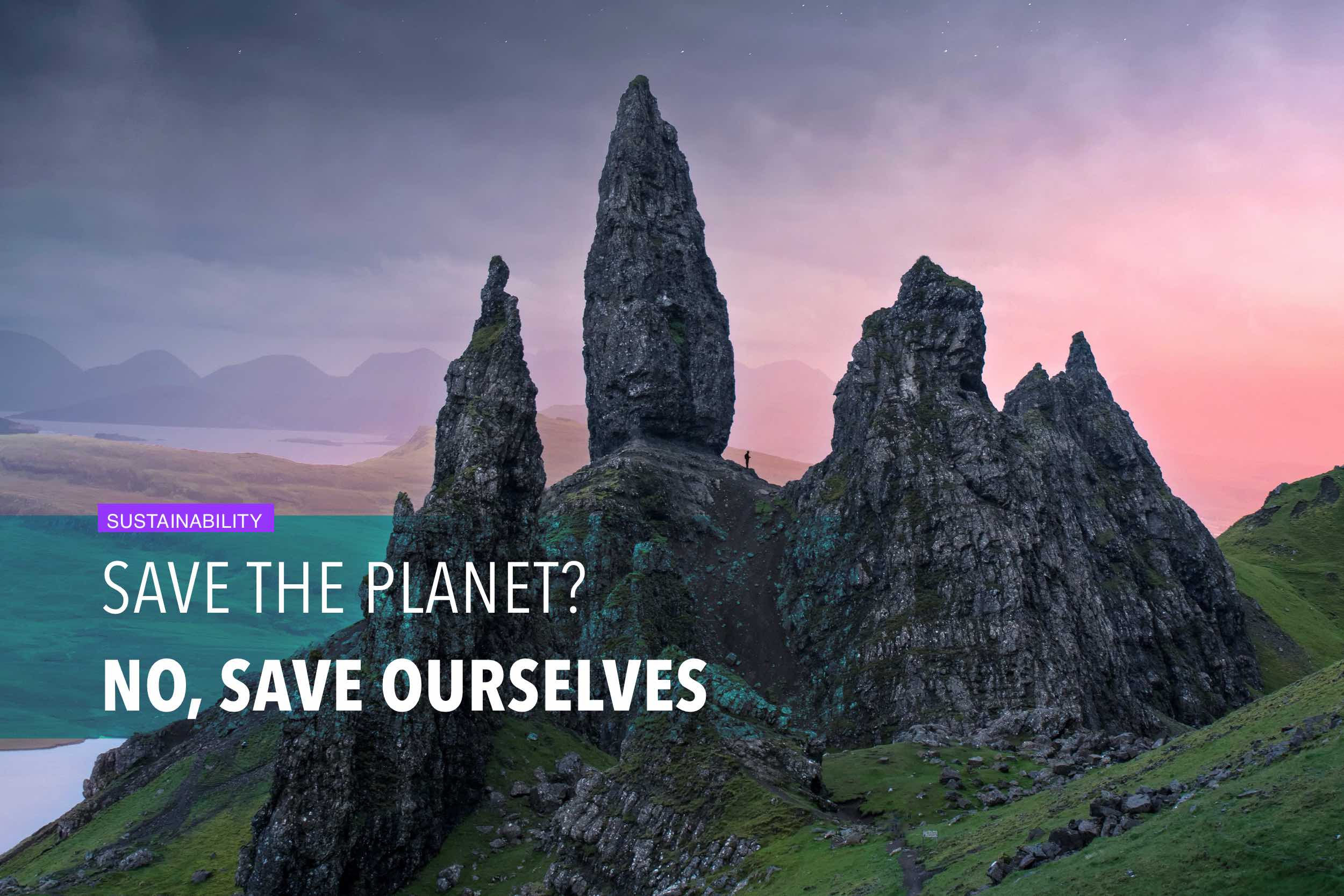Save the planet? No, save ourselves