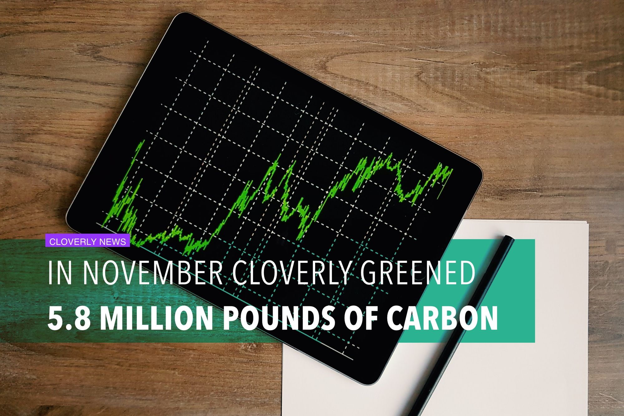In November, Cloverly greened 5.8 million pounds of carbon