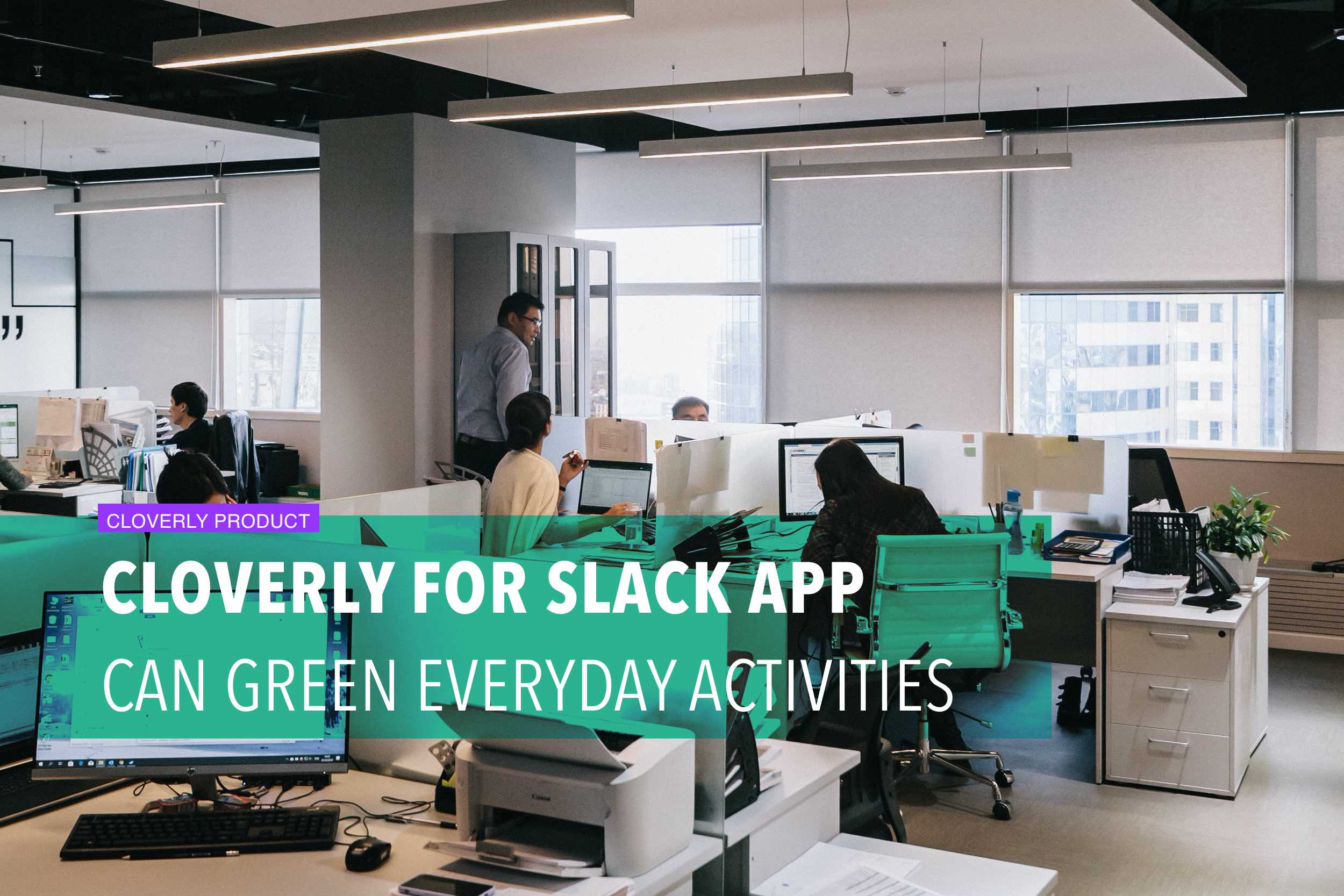 Cloverly for Slack app can green everyday activities