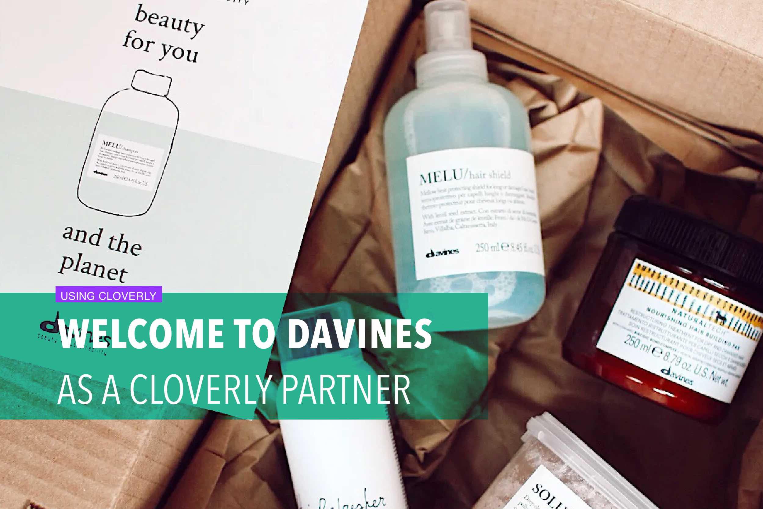 Welcome to Davines as a Cloverly partner