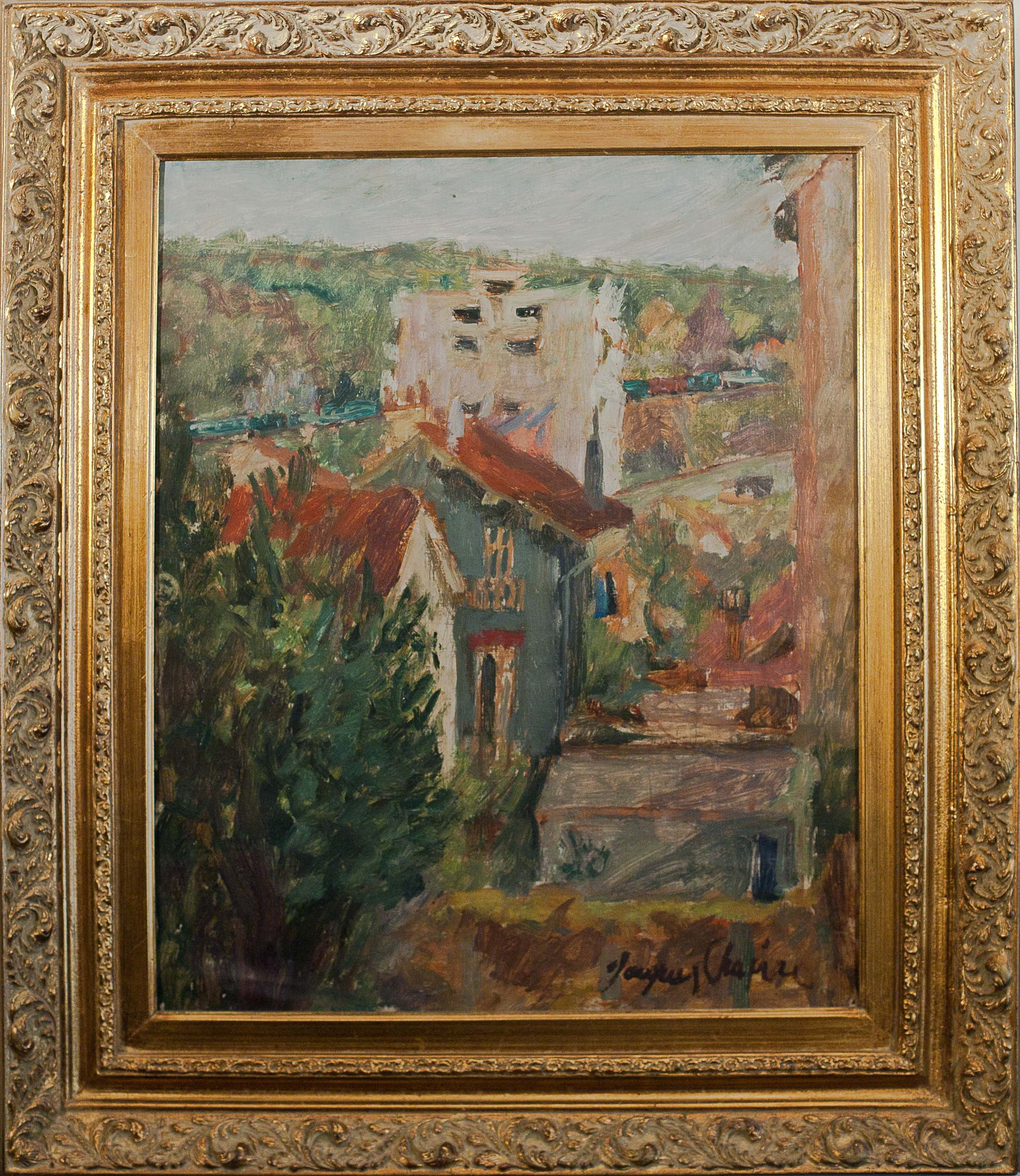 South of France by Jacques Chapiro. Oil on canvas. 19.0 in x 23.0 in. 1965