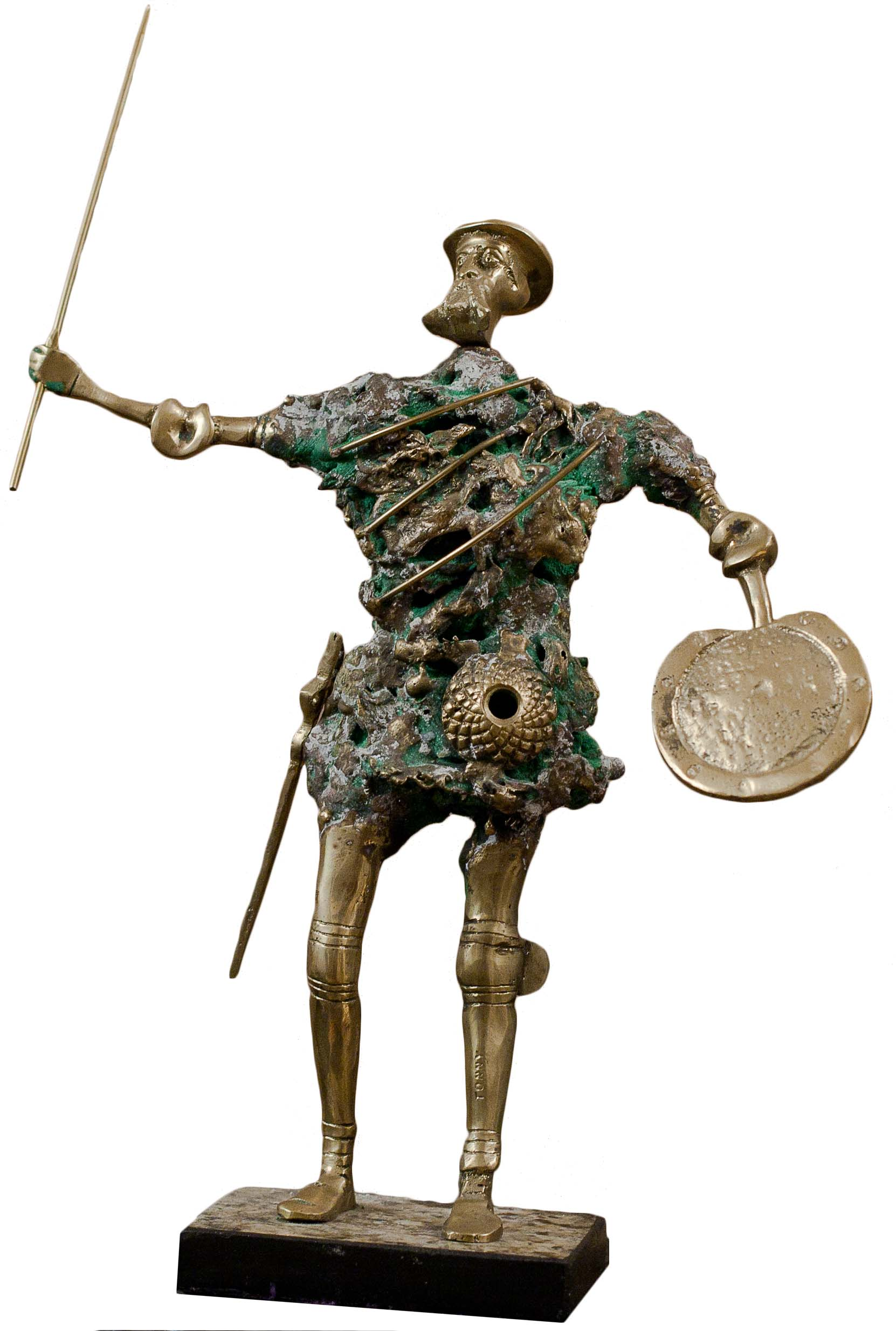 Don Quichot by Unknown. Bronze. 15.0 in x 5.0 in. 1987