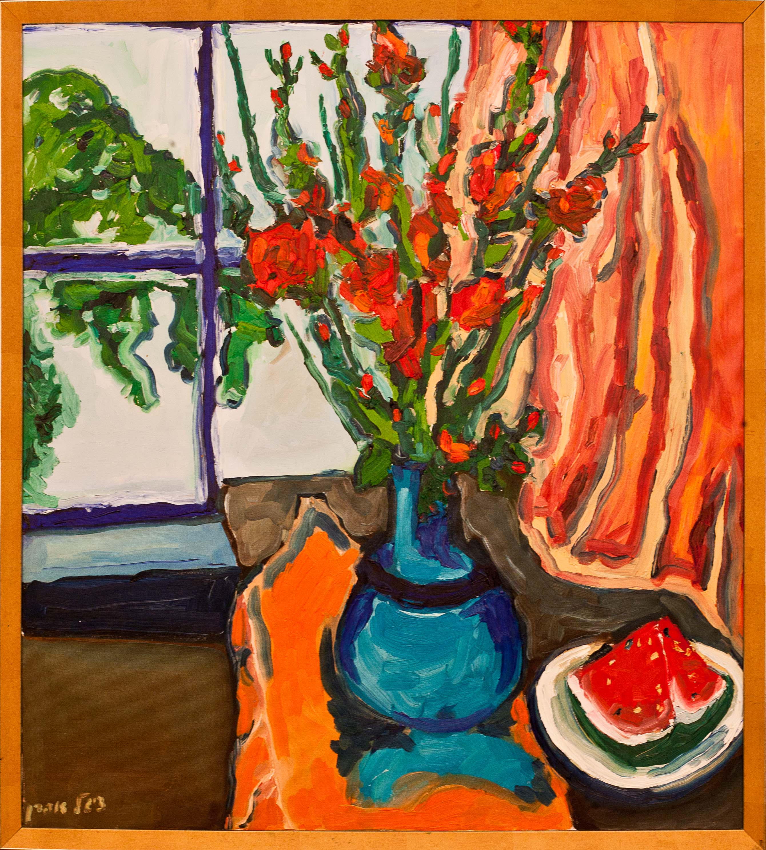 Stillife by Unknown. Oil on canvas. 39.0 in x 35.0 in. 1990