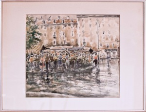untitled by Muris. water color. 29.0 in x 25.0 in. 1972