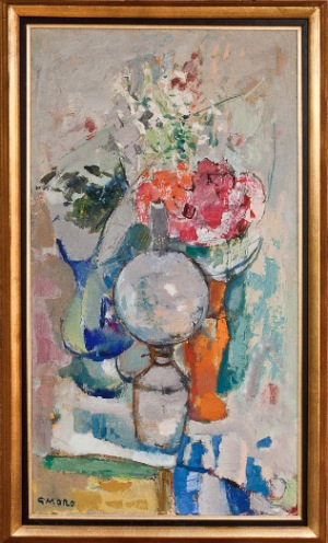 Untitled by Gino Moro. Oil on canvas. 19.0 in x 35.0 in. 00