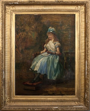 Portrait of a Young Lady by Murimackelar. Oil on canvas. 16.0 in x 21.0 in. 1880