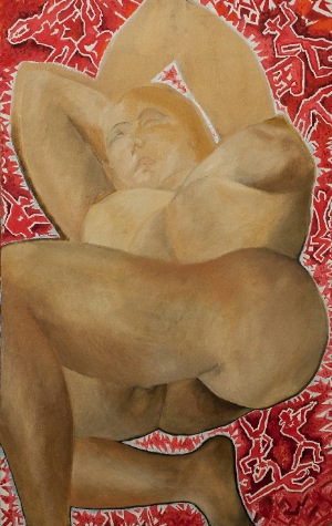nude by Unknown. oil on canvas. 38.0 in x 26.0 in. 1981