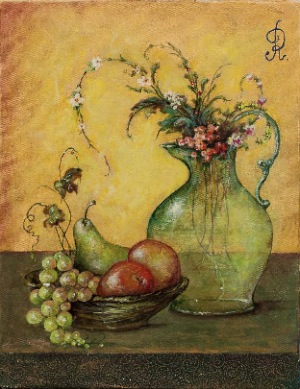 still life by Rebecca   Chemiakin. oil on canvas. 13.0 in x 17.0 in. 1985