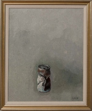 untitled by Lev Mezberg. oil on canvas. 30.0 in x 16.0 in. 1995