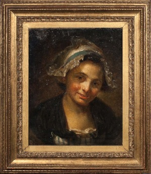 Young Girl by J. Greuze. Oil on canvas. 0.0 in x 10.0 in. 1767