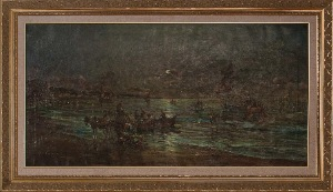 untitled by Vannini. Oil on canvas. 20.0 in x 41.0 in. 1961