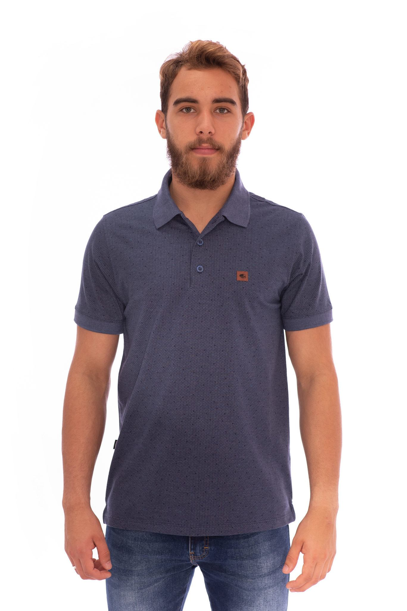 CAMISA GOLA POLO AEE SURF SLIM CONNECT MARINHO REF. 117