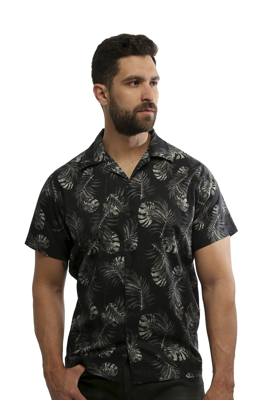 Camisa Hardivision Dark Forest Manga Curta