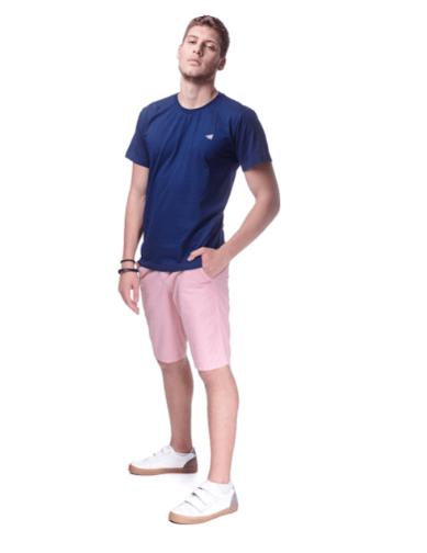 Camiseta Básica Masculina Youth - Azul Marinho