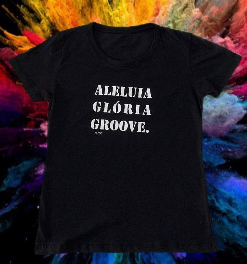 Camiseta diPOC ALELUIA GLÓRIA GROOVE