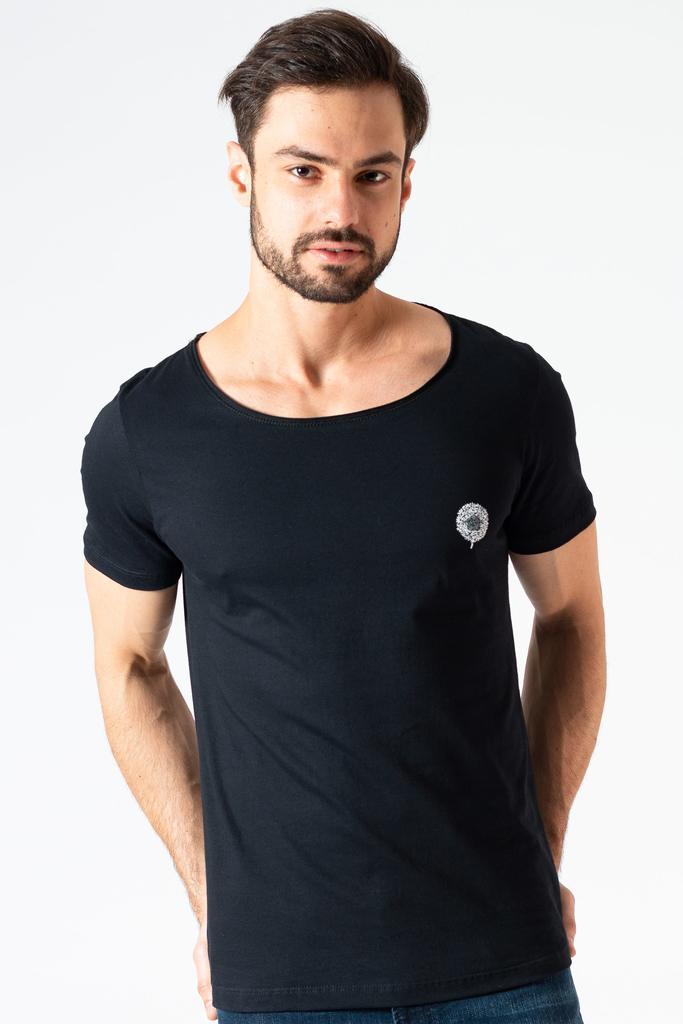 Camiseta Gola Canoa Clássica KSA Preta