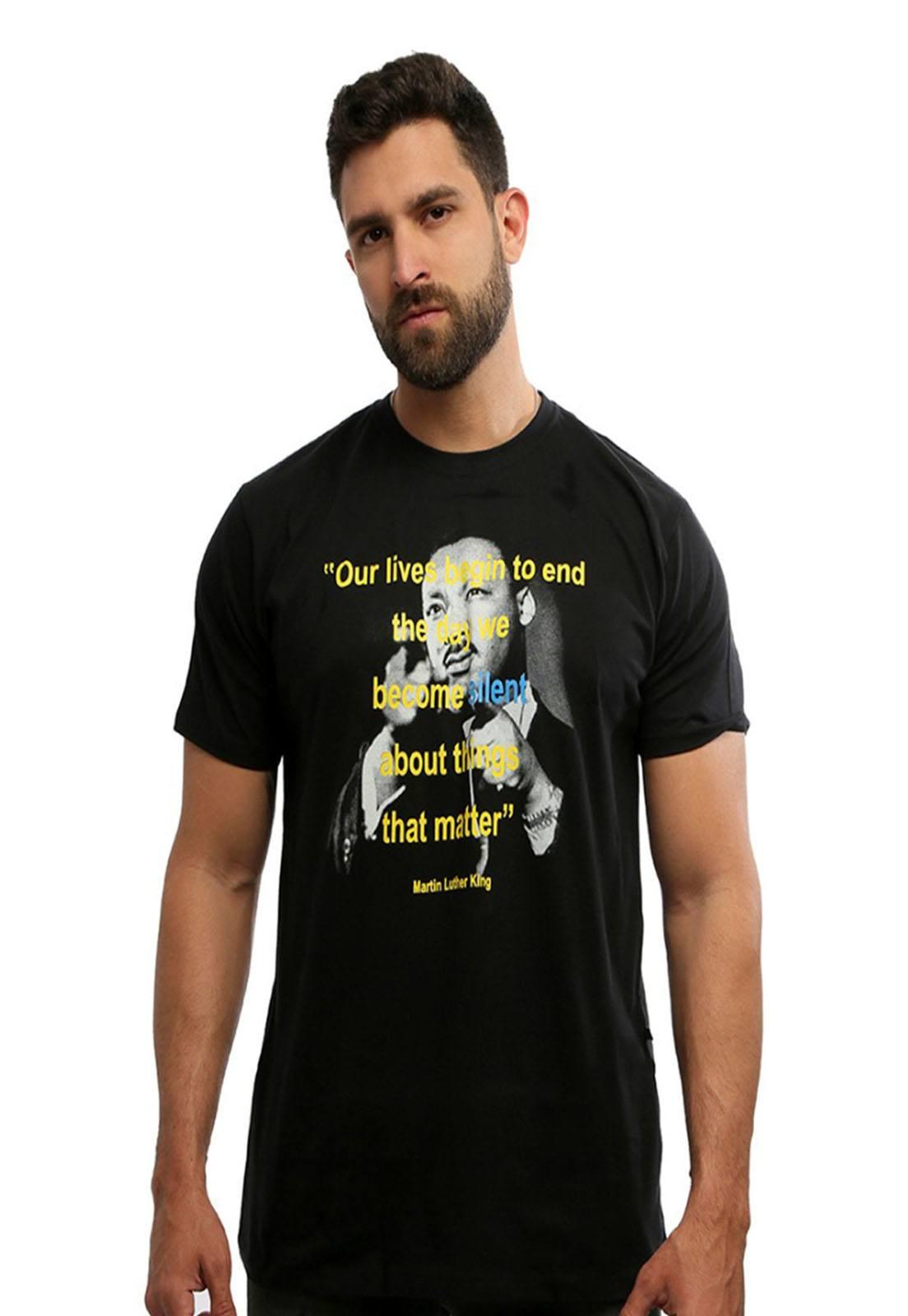 Camiseta Hardivision Martin Manga Curta Preto
