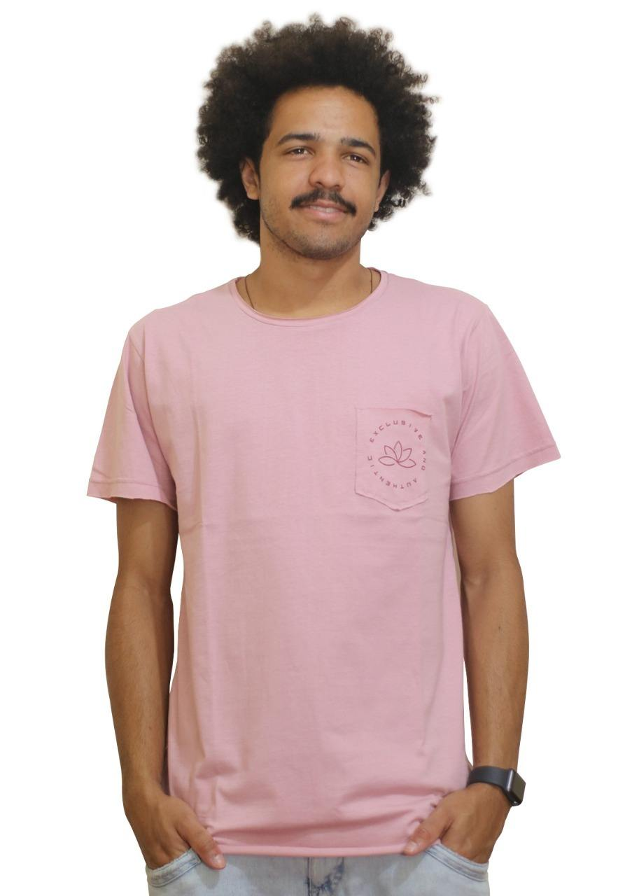 Camiseta Outstanding Lifestyle Bolso Authentic Rosa