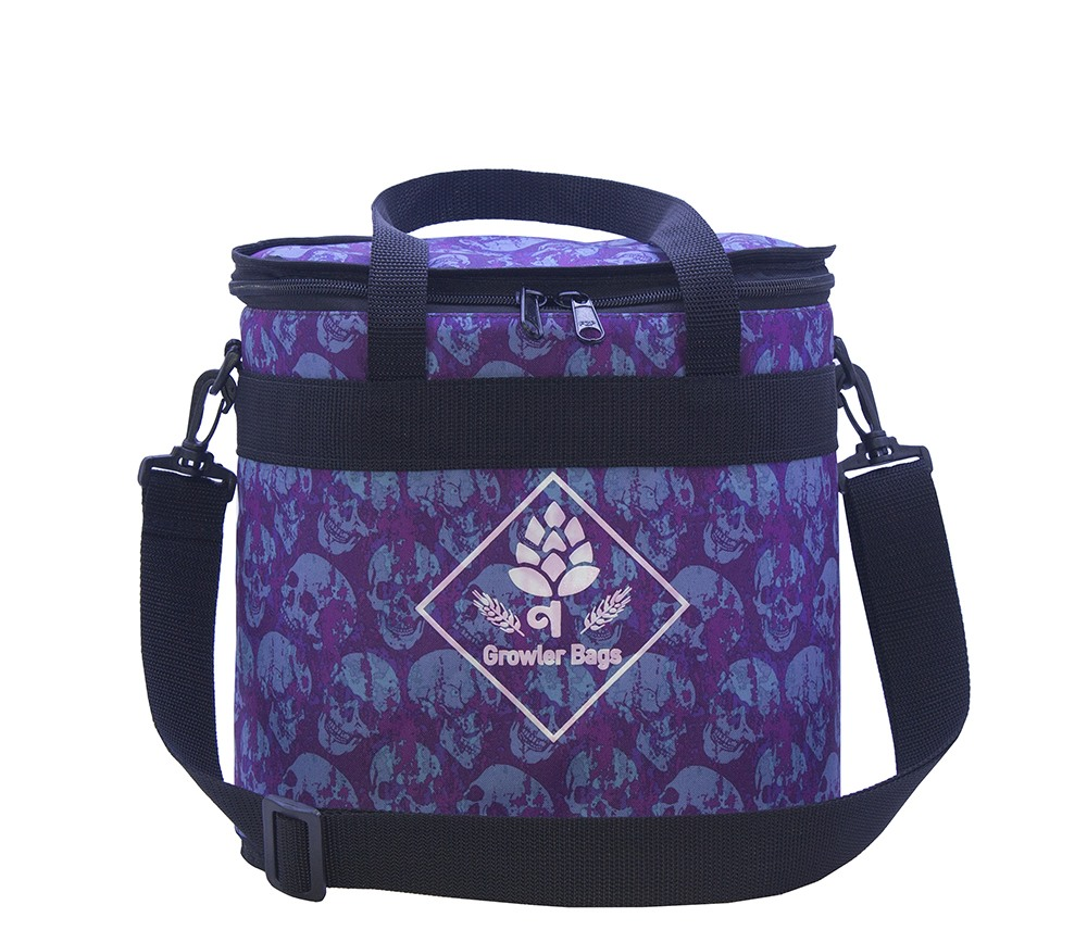 Can Bag Caveira Roxa - Bolsa Térmica p/ Latas e Long Necks