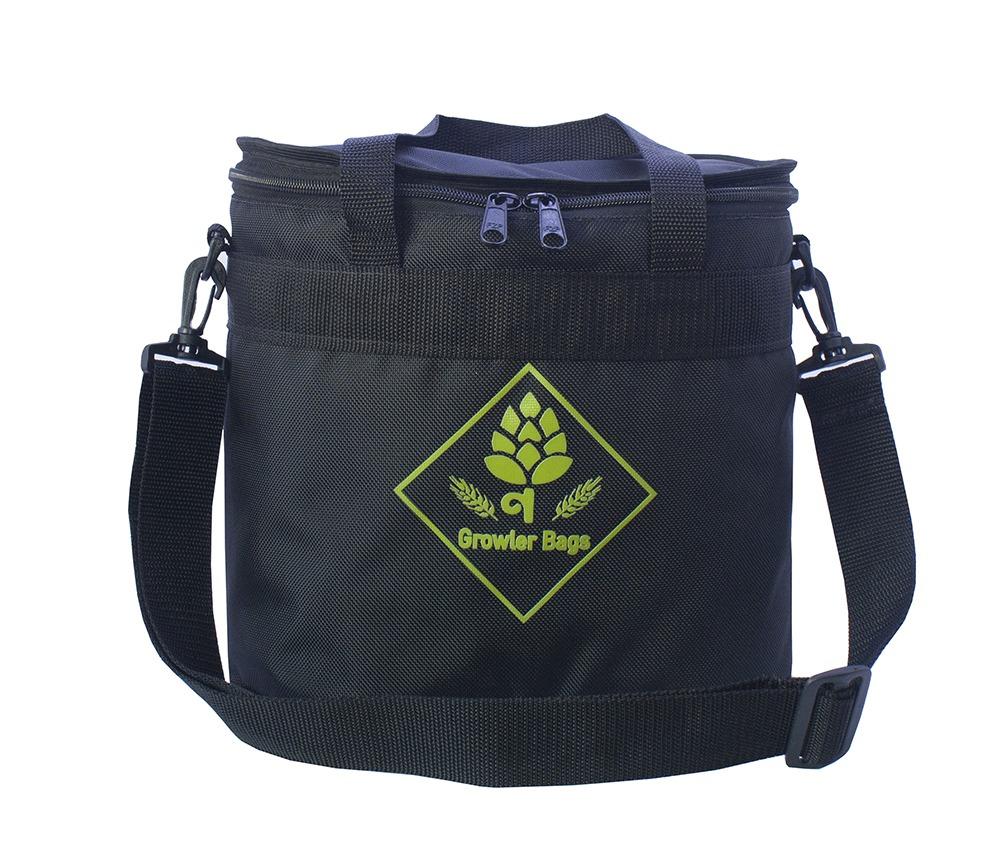 Can Bag Preta Logo Verde - Bolsa Térmica p/ Latas e Long Necks