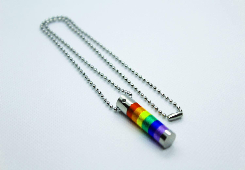 Colar do Orgulho LGBTQIA+ Cilindro