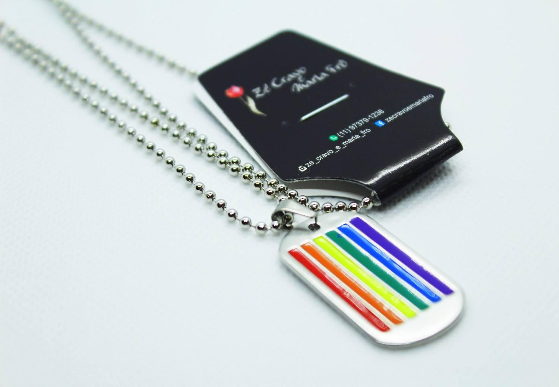 Colar do Orgulho LGBTQIA+ Placa