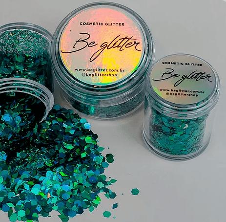Glitter Marine Green