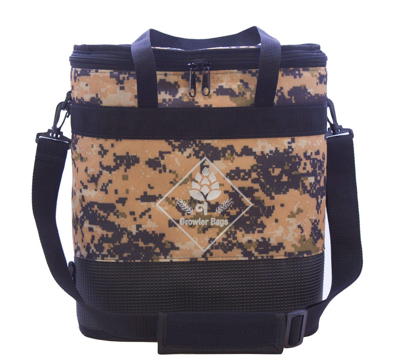 Growler Bag Double camuflada Deserto - Bolsa Térmica grande p/growler