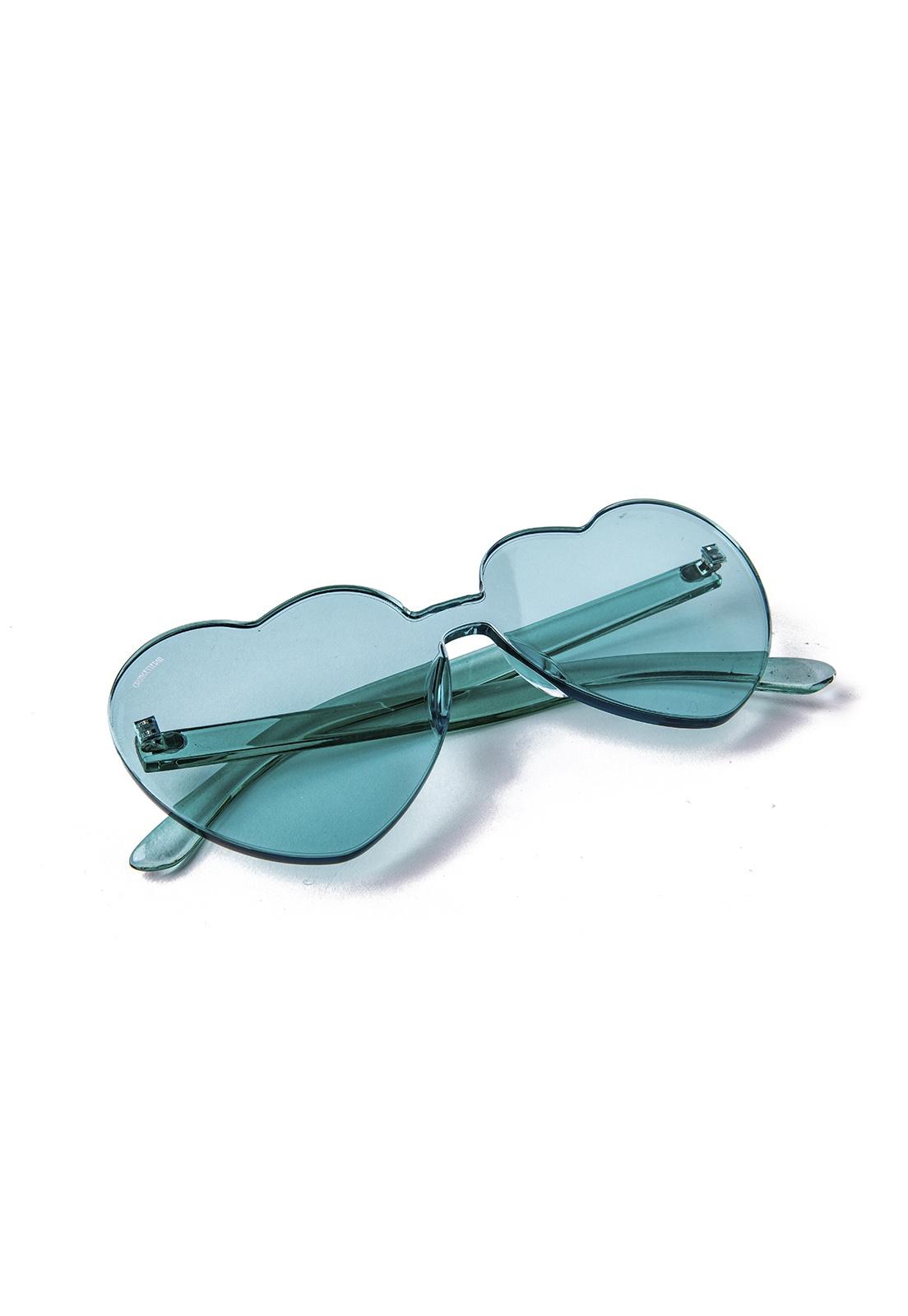 Óculos de Sol Grungetteria Love Turquesa
