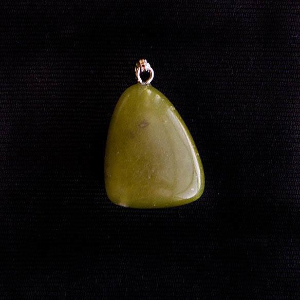Pingente Jade Verde Oliva