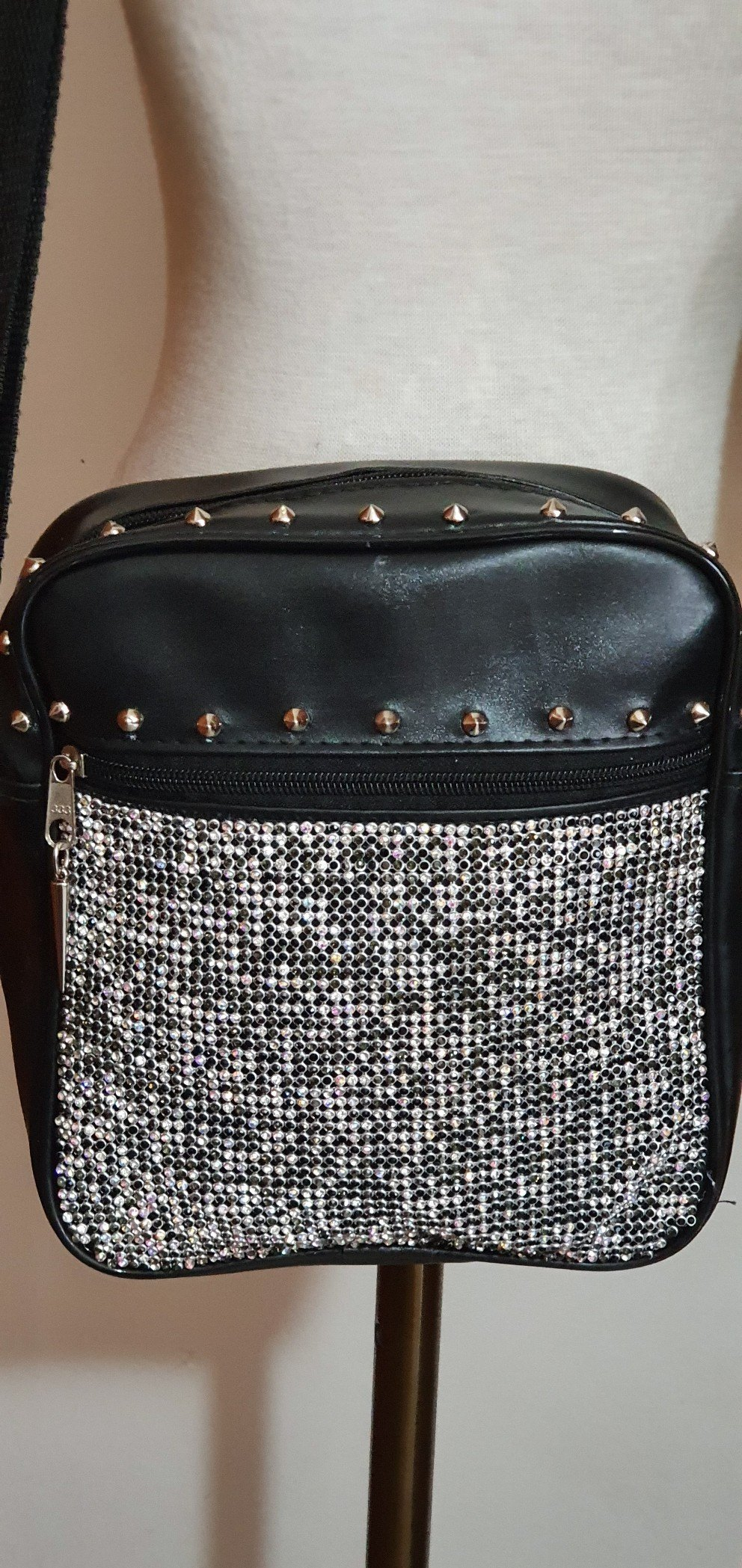 Shoulder Bag Black Diamonds