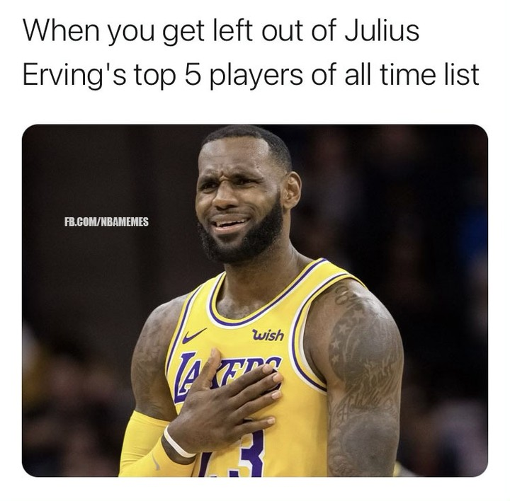 Julius Erving names top 5 players all-time, leaves out LeBron: story in bio