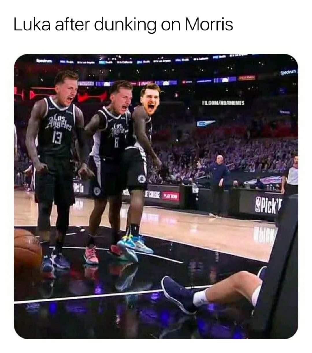 🎥 Luka Doncic gets revenge on Marcus Morris with nasty poster: story in bio