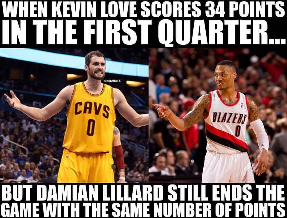 Kevin Love & Damian Lillard both ended with 40 POINTS!  #Cavs Nation #Blazers Nation
