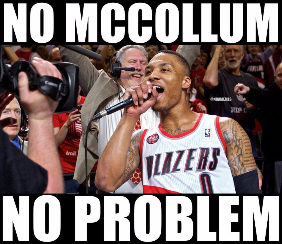 Damian Lillard's reaction to a 48-point beatdown on the Suns without C.J. McCollum.  #Blazers Nation #Suns Nation