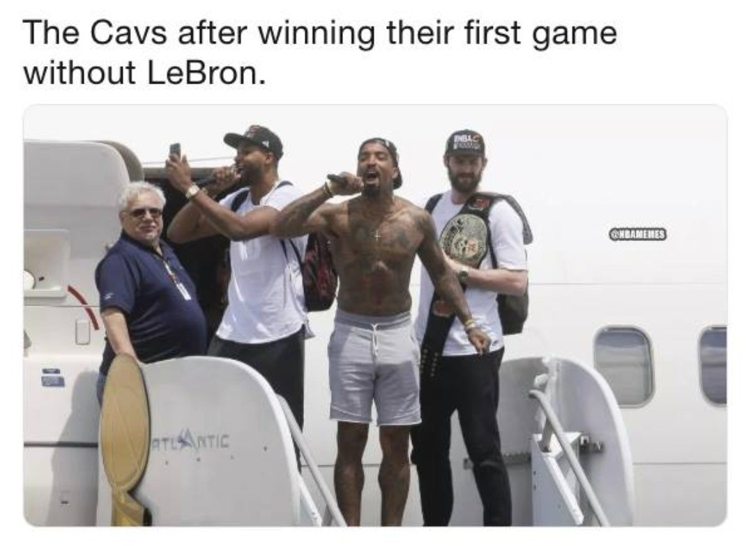 #CavsNation having a parade after getting their first post-LeBron win.