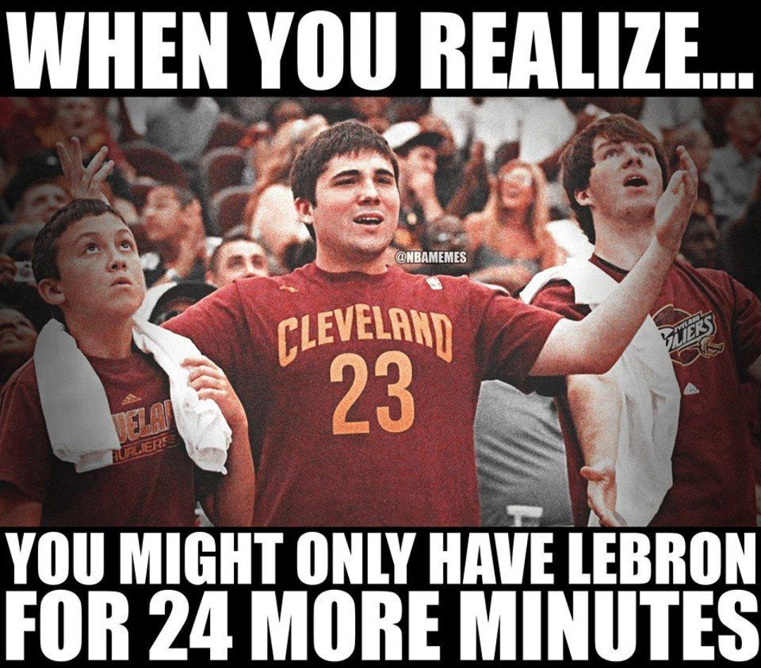 #CavsNation moving into what could be the final half of LeBron's Cavs career.