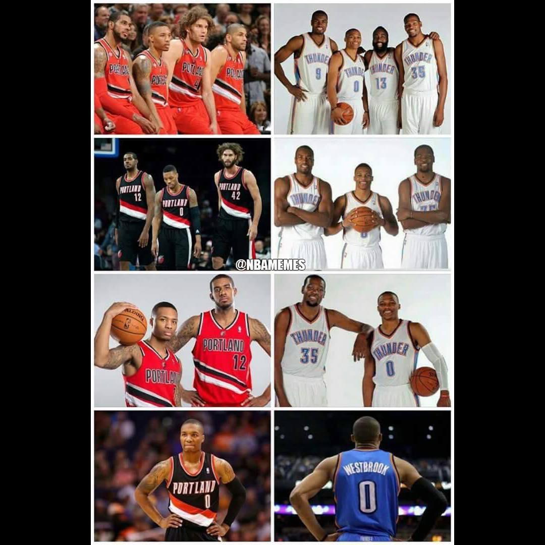 All that remains? #ZERO.  #Thunder #Blazers #NBAMemes
