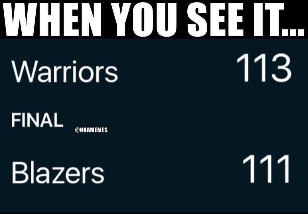It's everywhere. #WarriorsNation #BlazersNation