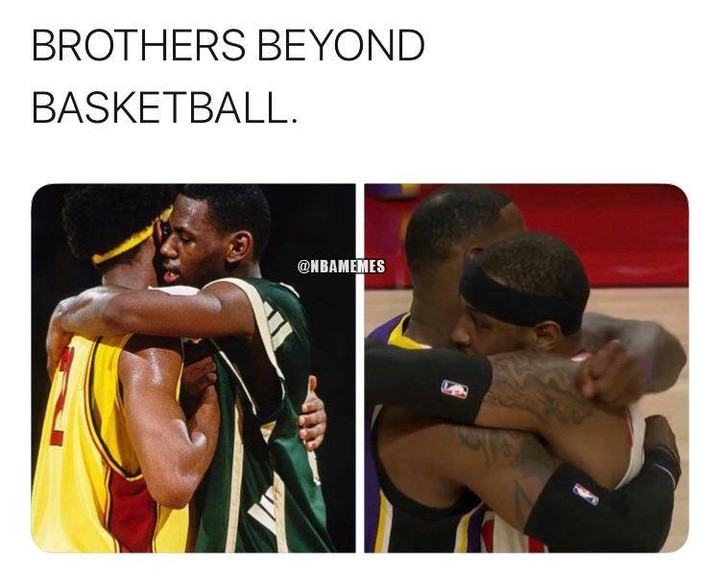 LeBron James and Carmelo Anthony are playing against each other once again.  #nba #nbamemes #lebronjames #carmeloanthony #lakeshow #lakers #basketball #blazersnation