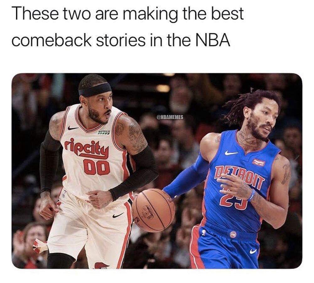 Derrick Rose speaks on a potential return to the Bulls: bit.ly/DerrickRoseBulls  #nba #memes #nbamemes #basketball #derrickrose #carmeloanthony #pistonsnation #blazersnation