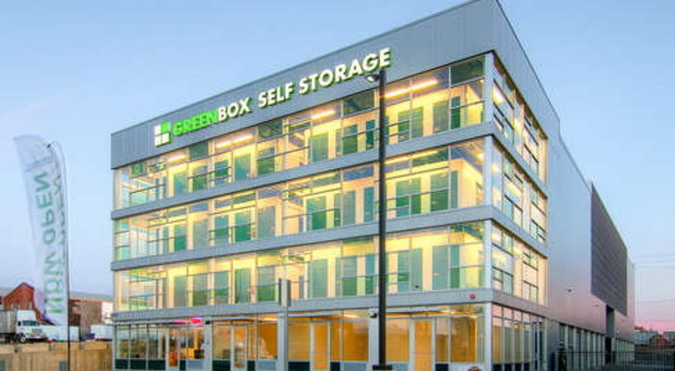 Green Box Self Storage entrance
