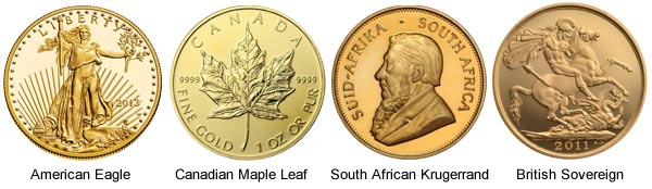examples of gold coins