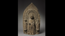 Stele with Sakyamuni and Bodhisattvas - Chinese language version