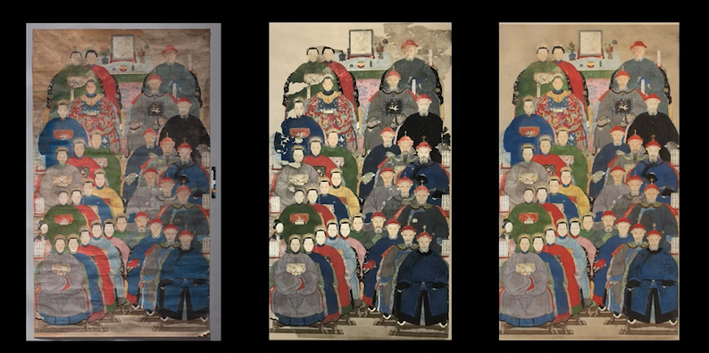 Conserving a Chinese Ancestor Group Portrait