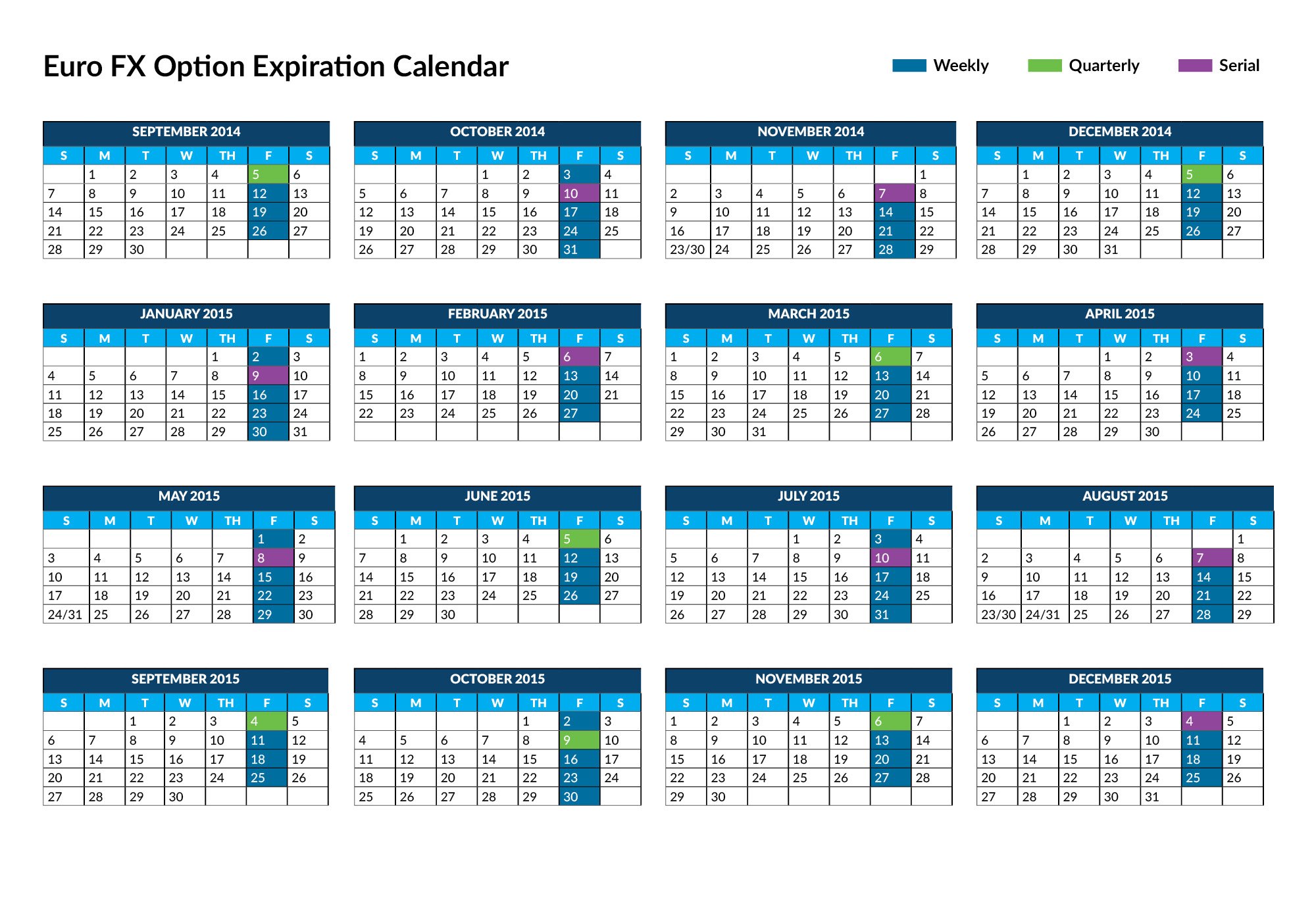Options trading expiration calendar