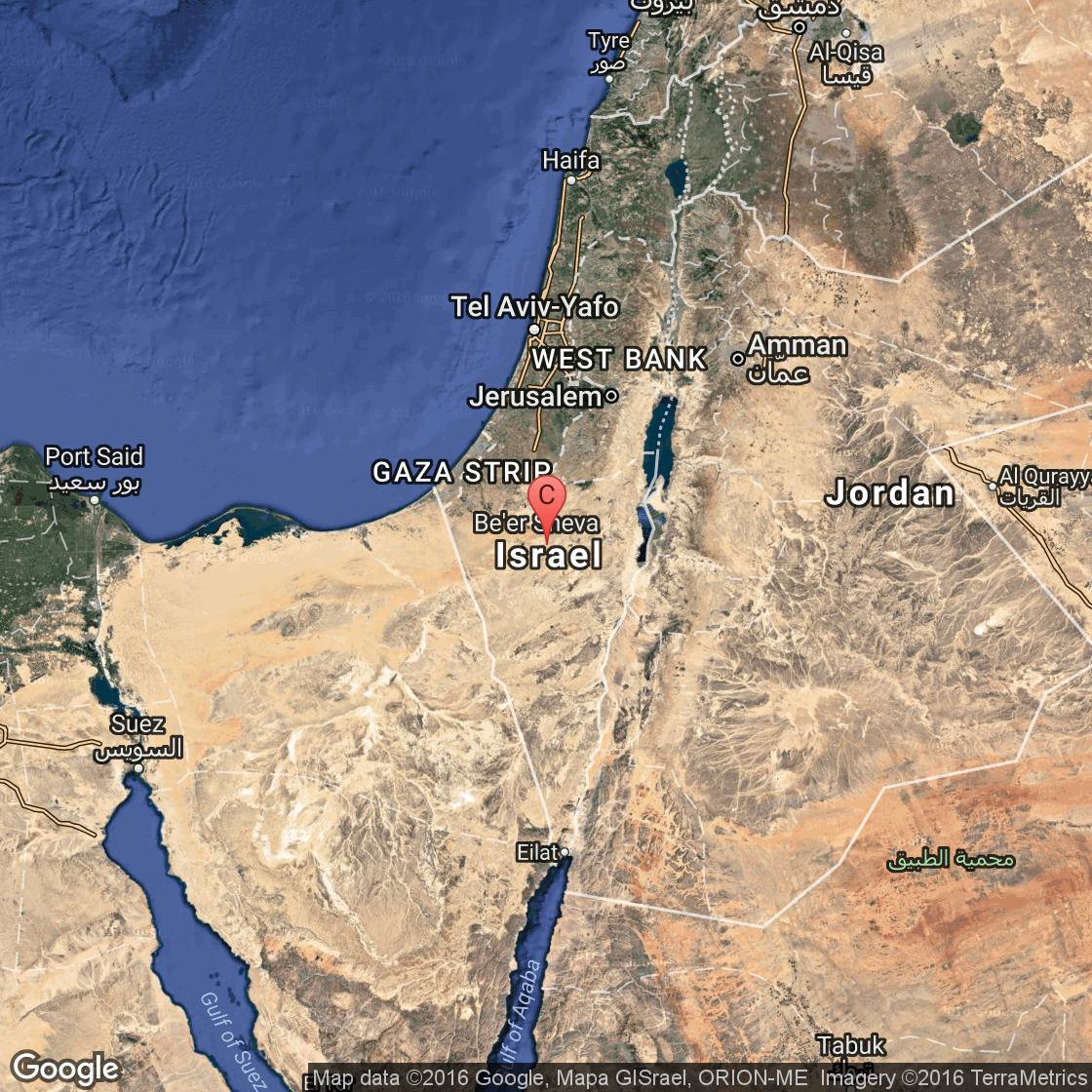 Deserts Of Israel USA Today - Negev desert map