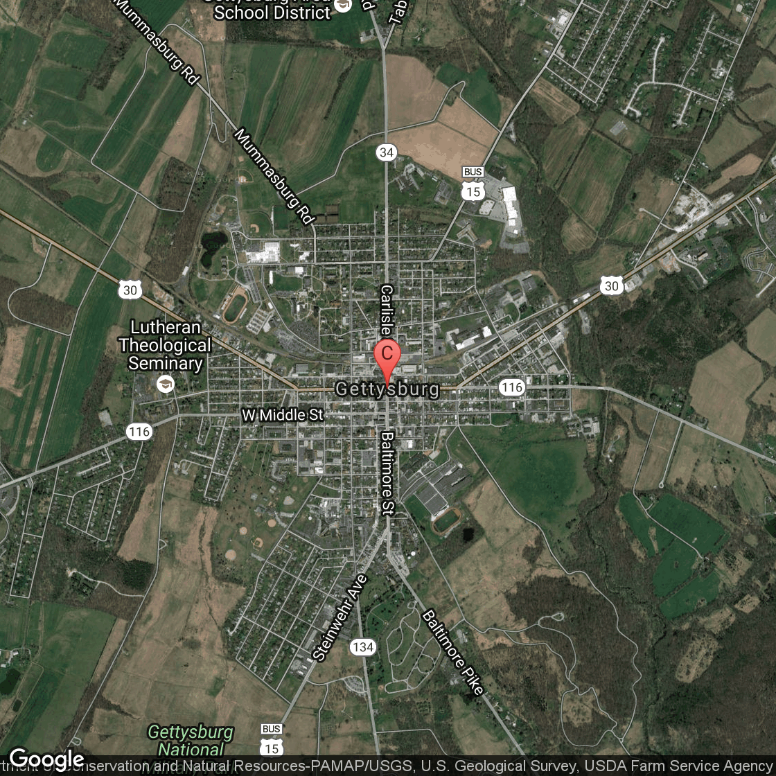 SelfGuided Tours Of Gettysburg Pennsylvania USA Today - Gettysburg pa in us map